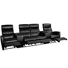 Black Bonded Leather recliner, 8811748