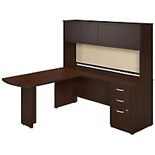 "Series C Elite Reversible Peninsula L-Desk with Hutch - 72""W, 8805318"