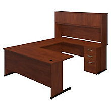 "Series C Elite Reversible C-Leg U-Desk with Hutch - 72""W, 8805323"