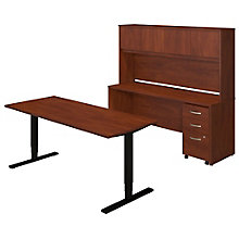 Series C Elite Height Adjustable Desk with Credenza and Hutch, 8805324