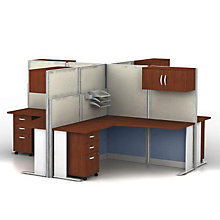 Four-Person L-Desk Workstation Set, 8828278