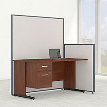 "Single Pedestal Desk & Panel Set - 62""W, 8805219"