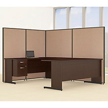 "Single Pedestal U-Desk Desk & Panel Set - 98""W, 8805222"