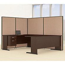 "Single Pedestal U-Desk Desk & Panel Set - 98""W, 8805222"