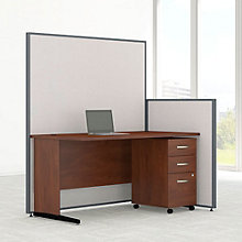 "Desk & Panel Set with Mobile Pedestal - 62""W, 8805224"