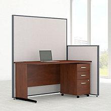 """Desk & Panel Set with Mobile Pedestal - 62""""W, 8805224"""
