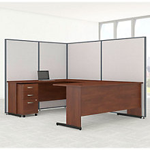 "U-Desk & Panel Set with Mobile Pedestal - 98""W, 8805227"