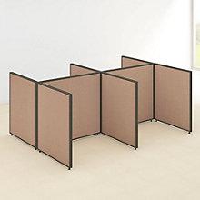 "42""H Four Person Open Workstation Panel Set, 8805228"