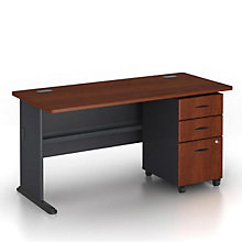 "Series A Single Pedestal Desk - 60""W, BUS-10129"