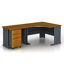 "Series A Corner Desk with File - 84""W, BUS-10126"