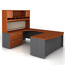 Left Bridge U-Desk with Hutch, OFG-UD1093