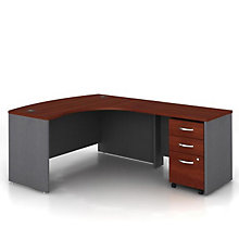 Bow Front Right Return L Desk, OFG-LD1232