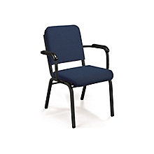 Premium Upholstered Stack Chair with Arms., 8822481
