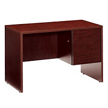 Compact Right Single Pedestal Desk, GLO-G2445SPR