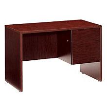 Compact Right Single Pedestal Desk, GLO-G2445SPR