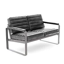 Rivet Two-Seat Lounge Loveseat , 8827741