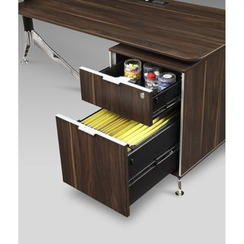 dark cabinets in kitchen 60 quot w l desk w reversible return amp lateral file 14431