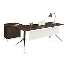 "Two-Tier L-Desk with Reversible Return - 71""W, 8807838"