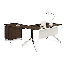 "Two-Tier L-Desk with Reversible Return - 60""W, 8807836"