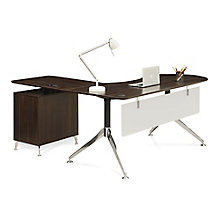 "Executive Curved L-Desk with Right Return - 71""W, 8807840"