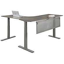 "At Work Corner Desk with Modesty Panel - 60""W, 8826037"