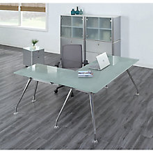 Executive Glass L Desk Suite, 8826833