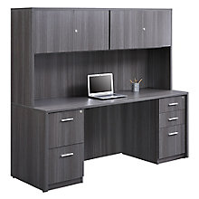 At Work Credenza and Hutch Set, 8828596