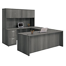 "U-Desk with Fully Reversible Bridge and Hutch - 71""W, 8827114"
