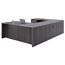 "U-Desk with Fully Reversible Bridge - 71""W, 8827115"