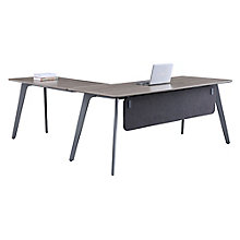 "Reversible L-Desk with Modesty Panel - 72""W x 78""D , 8827637"