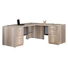 """Bow Front L-Desk  - 71""""W x 77""""D, 8827565"""