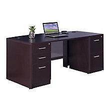 """Bow Front Desk - 72""""W x 36""""D, 8827566"""