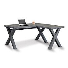 """Reversible Compact L-Desk - 60""""W, 8827601"""