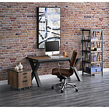 Industrial Style Compact Office Set, 8827603