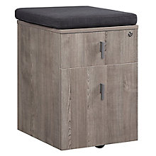 "Mobile Two Drawer File Pedestal with Cushion - 16""W , 8827615"