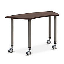 "Valuemax Pie-Shaped Mobile Adjustable-Height Table - 44.5""W x 23.5""D, 8827746"