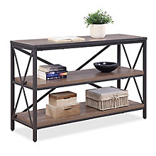 "Rivet 48""W x 30""H Three Shelf Bookcase, 8827996"