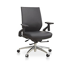 Swing-Back Arm Faux Leather Task Chair, 8807824