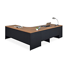Carbon L-Desk with 2-Drawer Pedestal and Left Return, 8827831