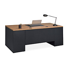 "Carbon Steel Executive Desk - 72""W x 30""D, 8827834"