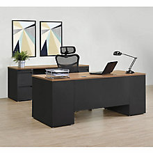 Carbon Executive Desk and Credenza Set, 8827842