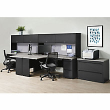 Carbon Two Person Workstation with Hutch, 8827845