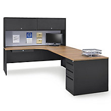 Carbon L-Desk with Hutch - Right Return, 8827847