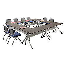 "Set of Six Flip Top Training Tables - 60""W x 24""D, 8827143"