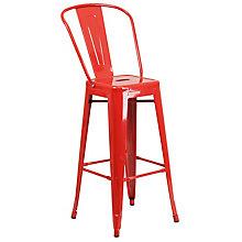 Red Metal Bar Stool, 8811861
