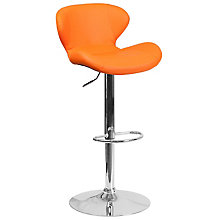 Orange Adjustable Barstool, 8811866