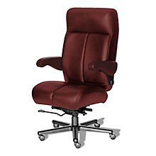 24/7 Big and Tall Chair with Flip Arms in Italian Leather, 8810149