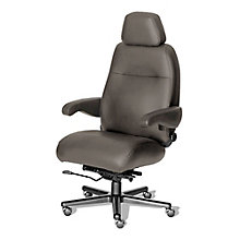 Henry 24/7 Big and Tall Chair with Headrest- Leather Front, Vinyl Sides, 8810156