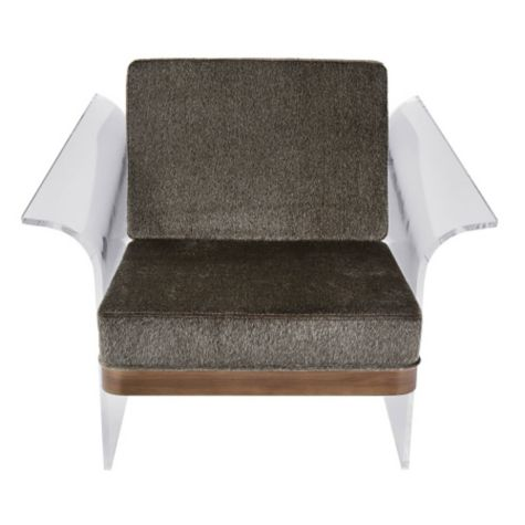 float acrylic lounge chair in faux fur 8804912