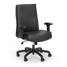24-Hour Big & Tall Mid-Back Leather Chair, 8826914